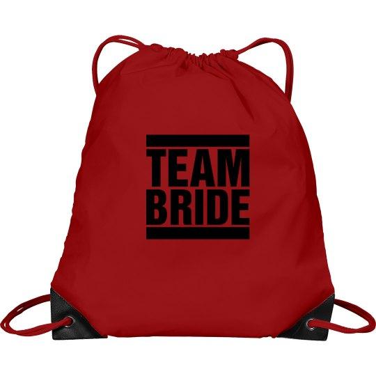 Team Bride Cinch Sack