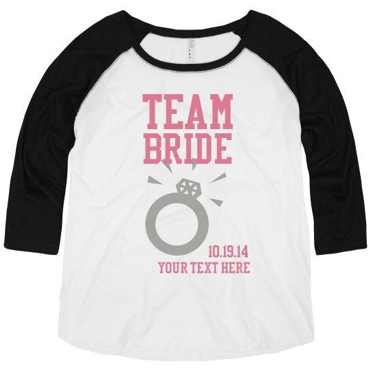 Team Bride Plus Sized Raglan