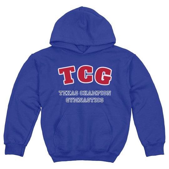 team letter hoodie