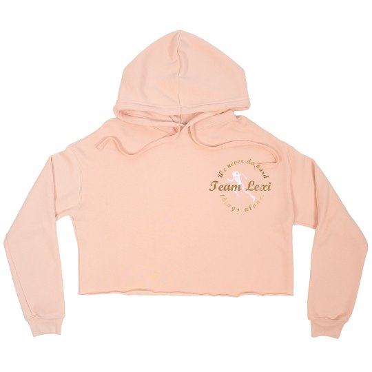 Team Lexi - CREW - Women's Crop Peach & Gold