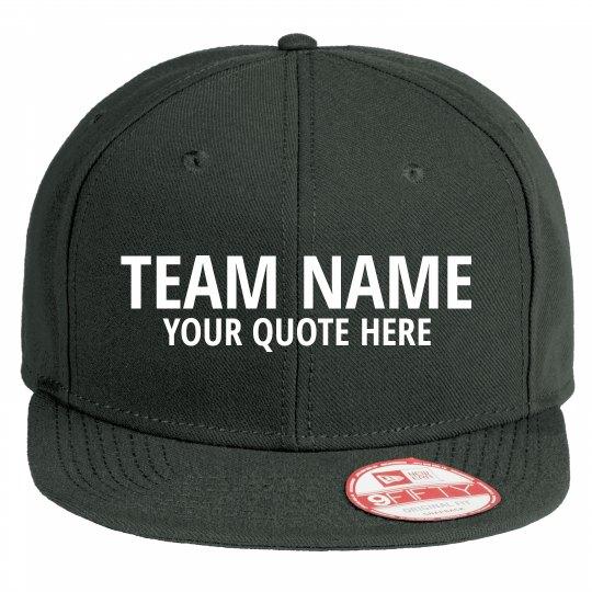 Team Name Flat Bill Hat