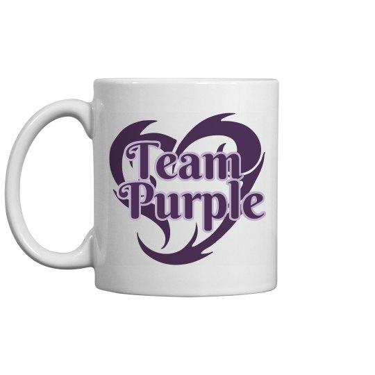 Team Purple Personalized Coffee Mug