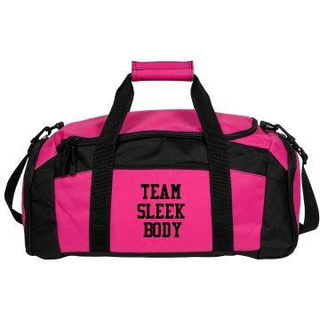 team sleek body gym bag
