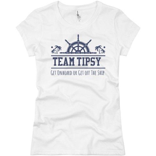 Team Tipsy Ladies Fit Tee