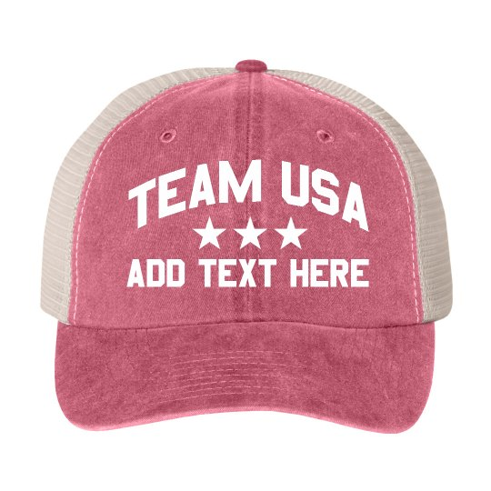 Team USA 4th of July Custom Text