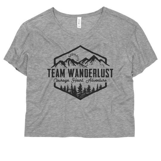 Team Wanderlust Crop Shirt
