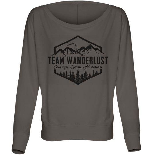 Team Wanderlust Scoop Neck Sweatshirt
