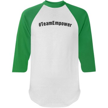 #TeamEmpower Baseball Shirt with TE Logo