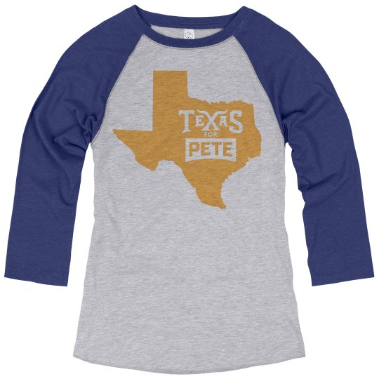 Texas for Pete - 3/4 Sleeve Royal Blue - Women's