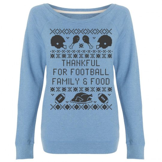 Thankful Family Food Ugly Sweater