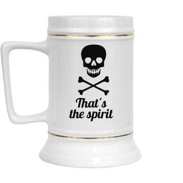 That's the Spirit stein - gilded