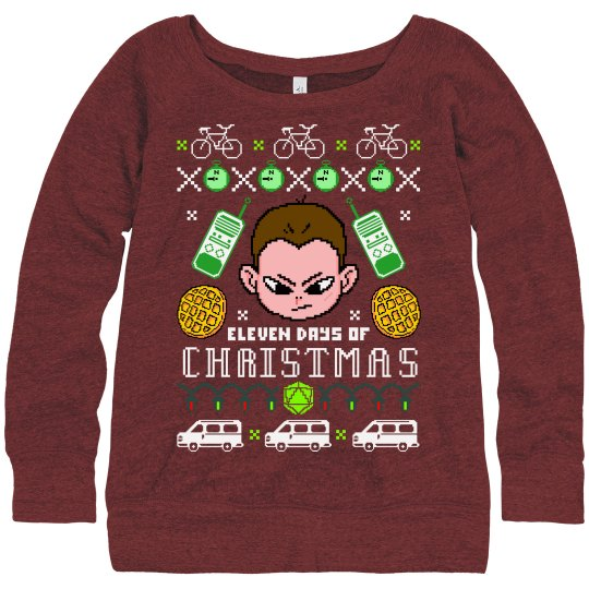 The Eleven Days Of Christmas Sweater