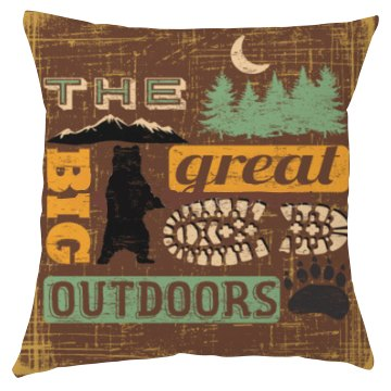 The Great Big Outdoors Pillow Cover