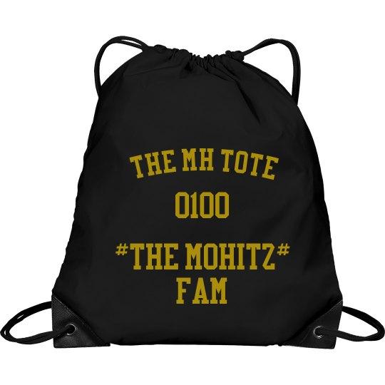 THE MOHITZ FAM TOTE( BLACK & GOLD)