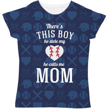 This Boy Stole My Heart Baseball pattern