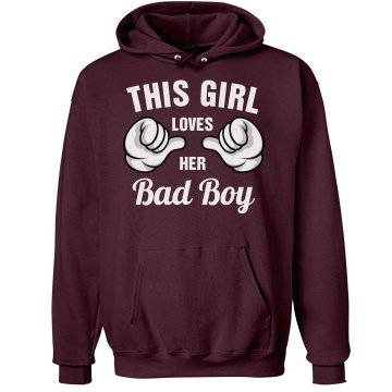 This girl loves her Bad Boy