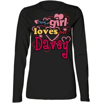 This girl loves her Davey