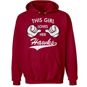This girl loves her Hawks