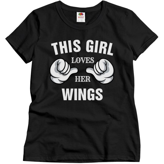 This girl loves her wings