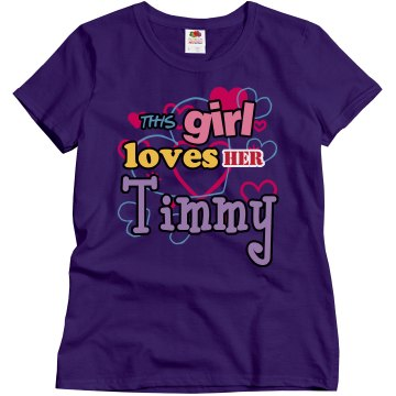 This girl loves Timmy!