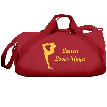 This Girl Loves Yoga Duffel Bag