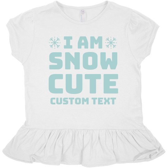 This Kid Is Snow Cute Ruffle Tee