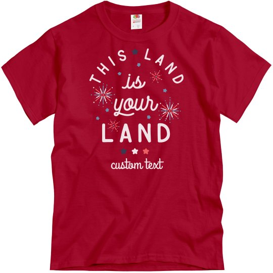 This Land is Your Land Matching July 4th Tee
