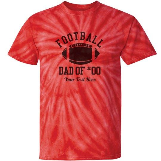 Tie-Dye Football Dad Tee