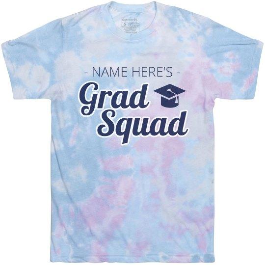 Tie-Dye Grad Squad Custom Tee