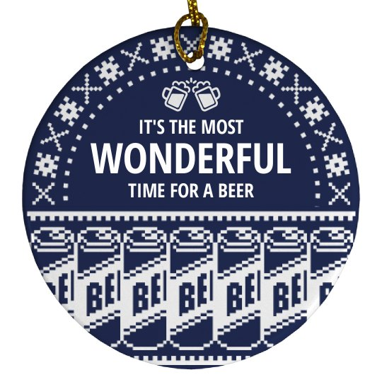 Time For A Beer Ugly Sweater Gift