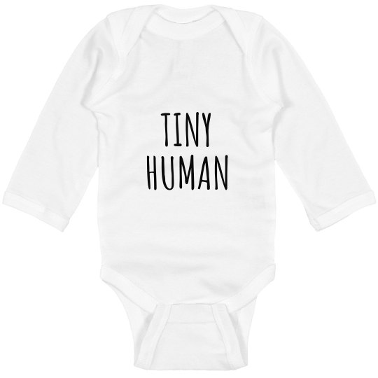 TINY HUMAN LONG SLEEVE BODYSUIT
