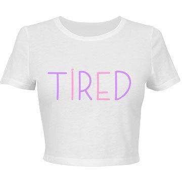 Tired Pastel Crop Top