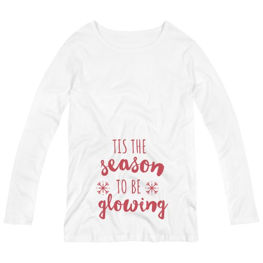 'Tis the Season to be Glowing Maternity