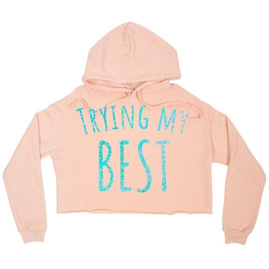 TMB crop hoodie