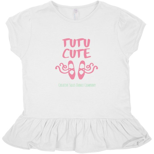 Toddler - Tutu Cute Ruffle Tee