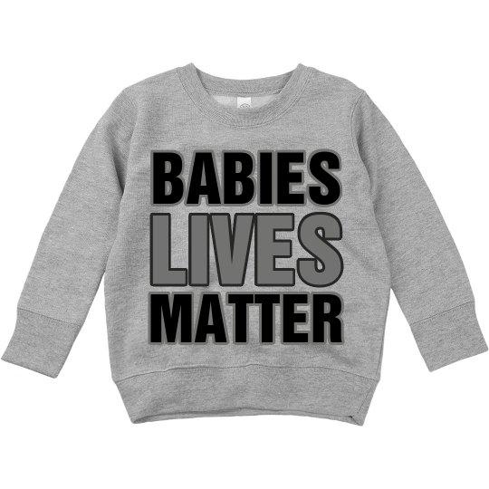 Toddler Babies Lives Matter