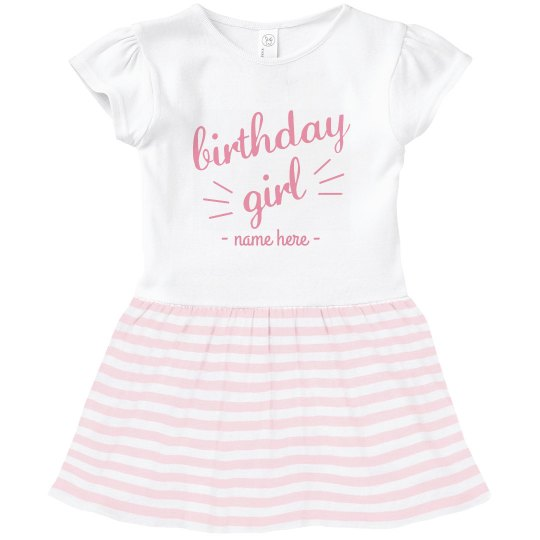 Toddler Birthday Girl Ruffle Dress