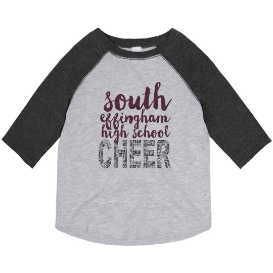 Toddler CHEER 3/4 Tee