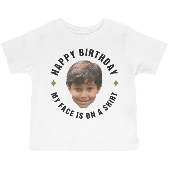 Toddler Face Photo Cut Out B-Day Tee