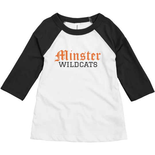 toddler minster wildcats baseball t