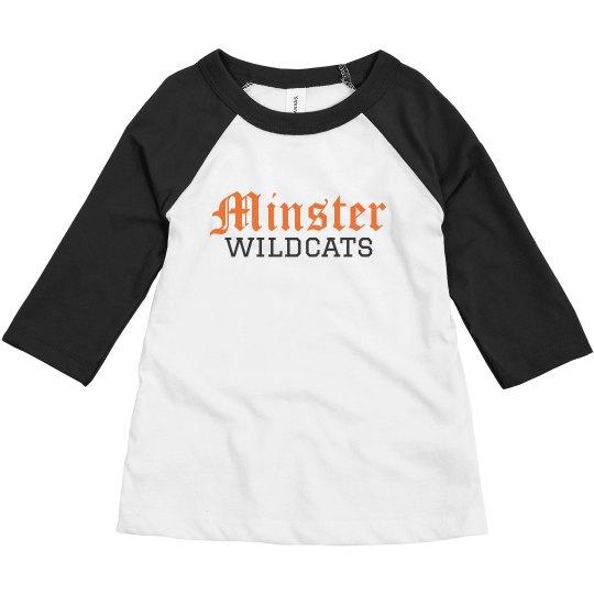 toddler minster wildcats baseball t