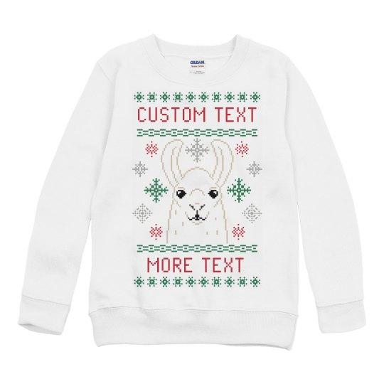 Toddler Ugly Llama Sweater