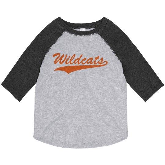 Toddler Wildcats baseball tee