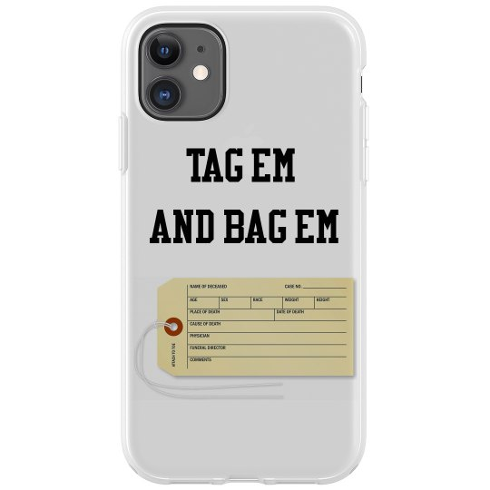 Toe Tag IPhone 11 case