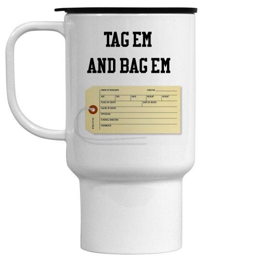 Toe Tag Travel Mug