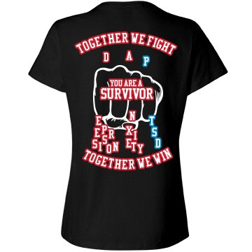Together we fight PTSD Tee