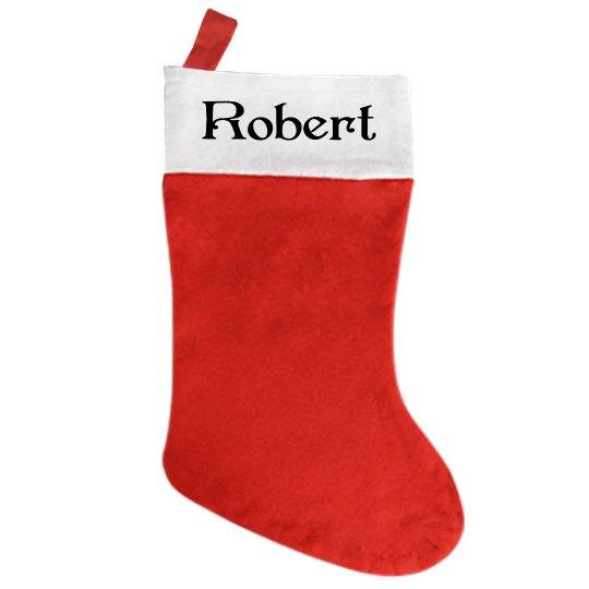 Traditional Christmas Stocking - With Name Robert