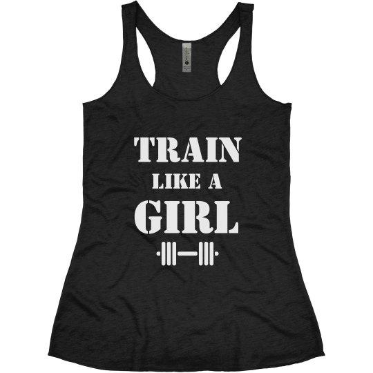 Train Like A Girl Lifting Tank