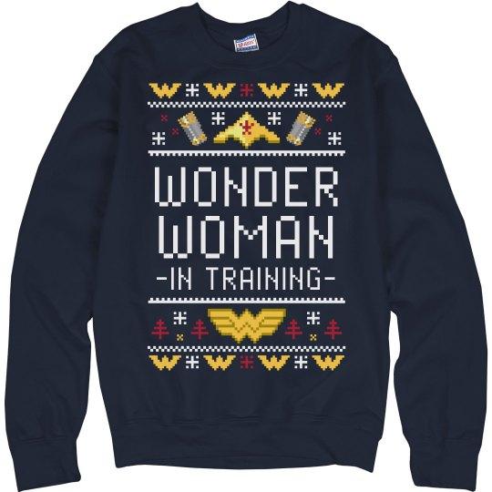 Training Wonder Woman Xmas Sweater