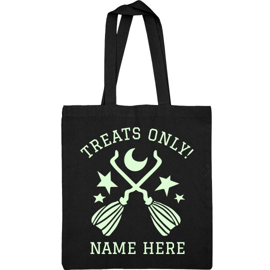 Treats Only Custom Name Tote